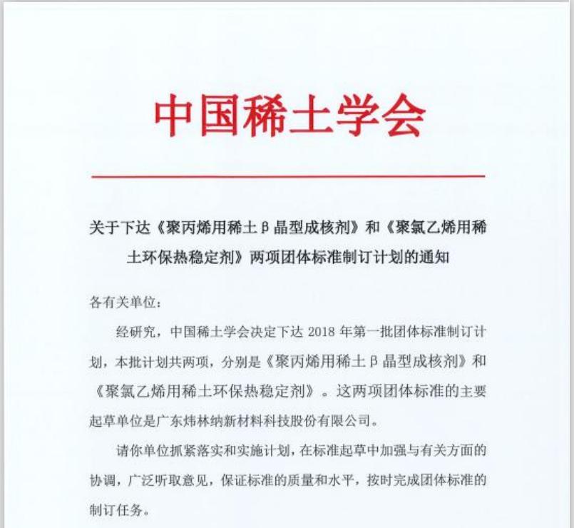【炜林纳】祝贺!炜林纳公司起草两项团体标准获通过发布实施!